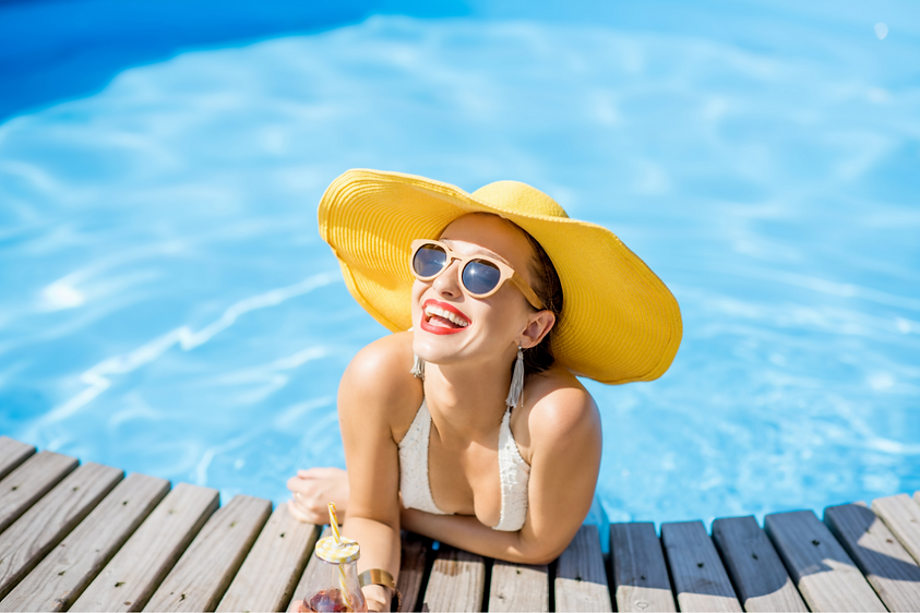Bouées, piscine, jeux d'été