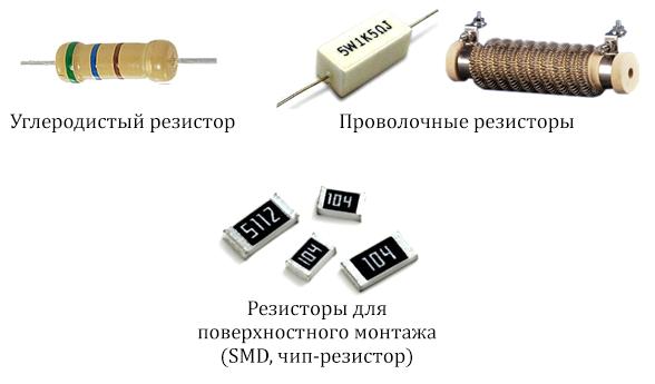 Типы конструкций резисторов