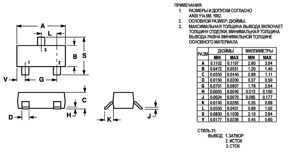 Указание размеров контактных площадок компонента в спецификации