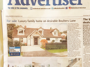 Stop the Press!  Completed Project a Special Feature in Local Newspaper