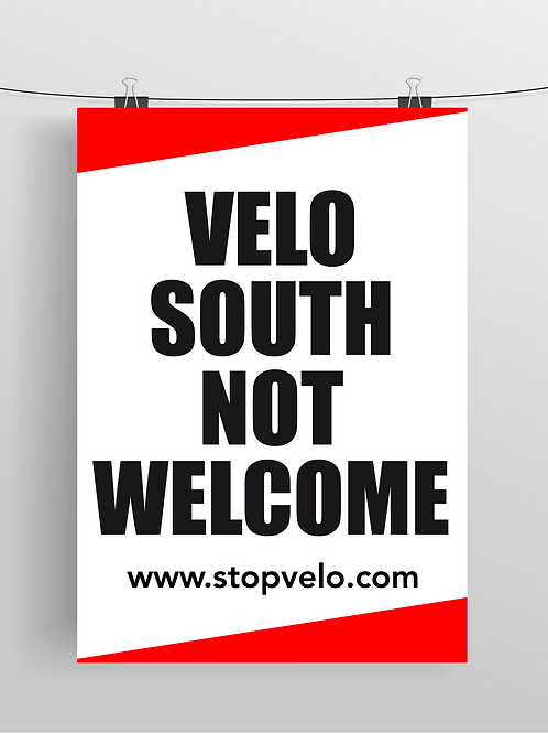 Velo South Not Welcome
