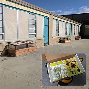 Hillcrest Elementary School Gardens in Thornton, Colorado