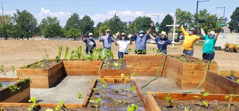 community garden, community garden beds, assisted living garden