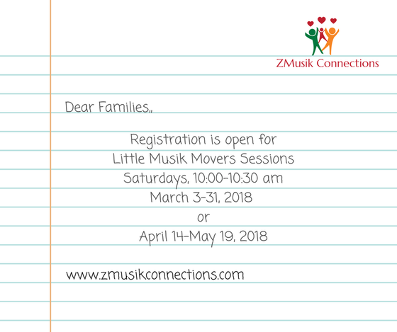 Little Musik Movers at Inspirations Dance and Fitness Studio