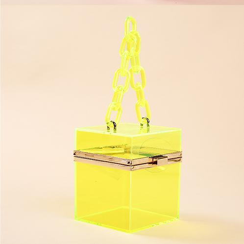 simple square purses gift box transparent bag GN