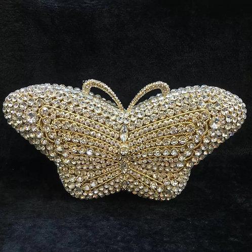 Evening luxury Bridal Crystal clutch Butterfly01