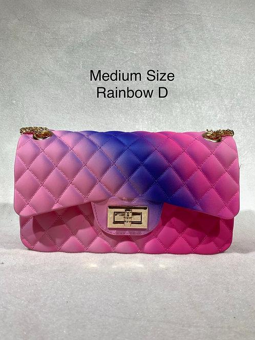 MEDIUM SIZE JELLY BAG RAINBOW-D