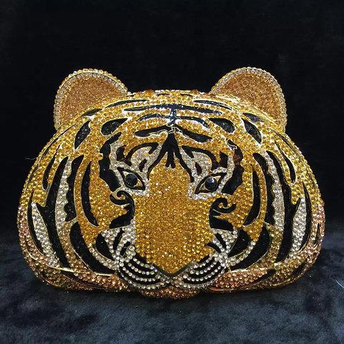 Evening luxury Bridal Crystal clutch Tiger11