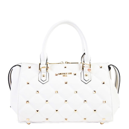 NICOLE LEE STUDDED QUILTED BAG  P14034 WT