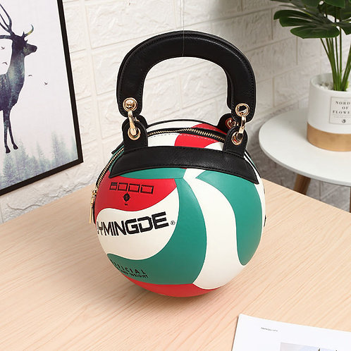 Volleyball Shaped Crossbody Bag VB02
