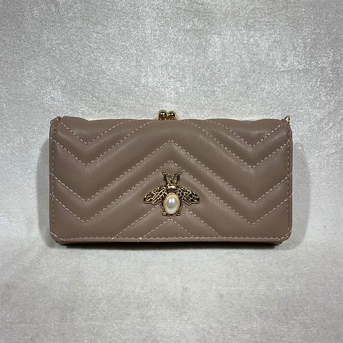 PU LEATHER LONG WALLET YG109 TAUPE