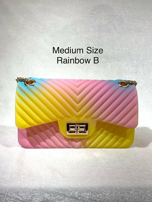 MEDIUM SIZE JELLY BAG RAINBOW-B