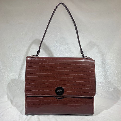 DAVID JONES SATCHEL HANDBAG CM5422 BROWN