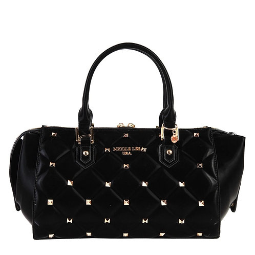 NICOLE LEE STUDDED QUILTED BAG  P14034 BK