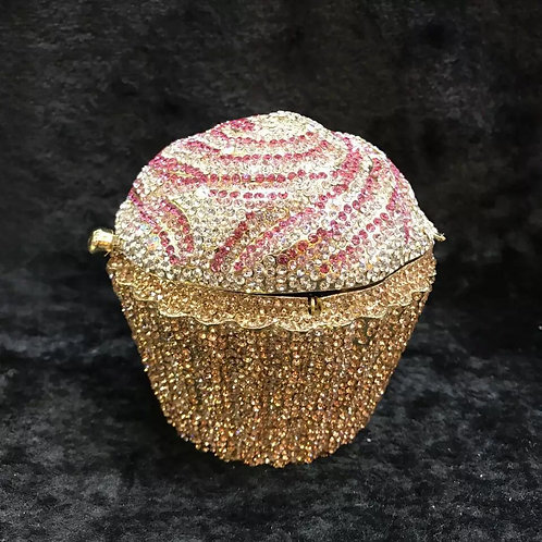 Evening luxury Bridal Crystal clutch cupcake