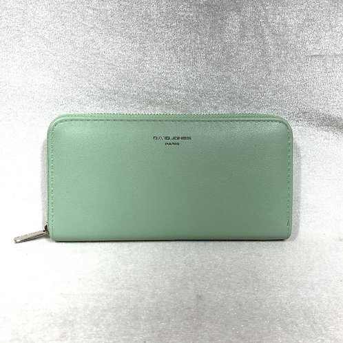 DAVID JONES PU LEATHER LONG WALLET P093-510 GREEN