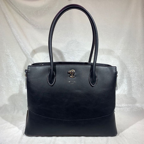 DAVID JONES FASHION SATCHEL HANDBAG CM5885 BLACK