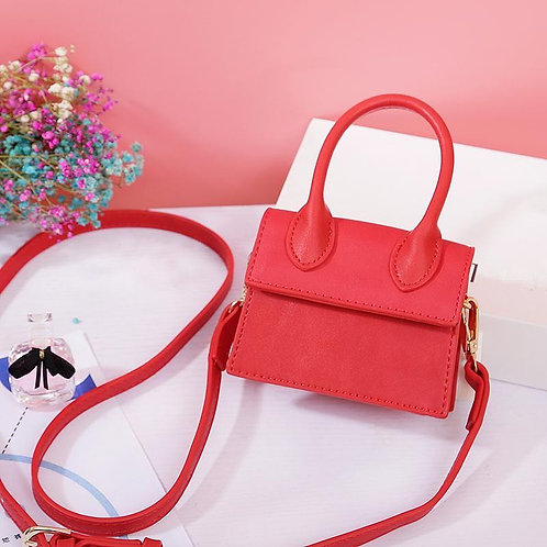 MINI CUTE DESIGN WITH HANDLE CROSSBODY MN8697 RED