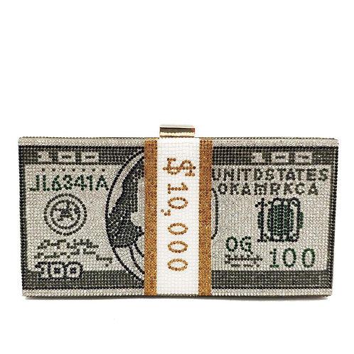 Money Evening Clutch Bags MC01 DARK GREY
