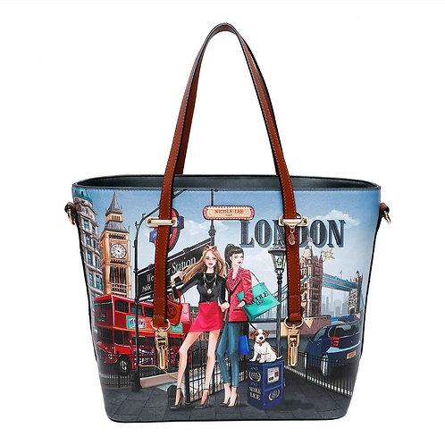 NICOLE LEE FASHION WOW IT`S LONDON PRINT SHOPPER BAG WOW16022