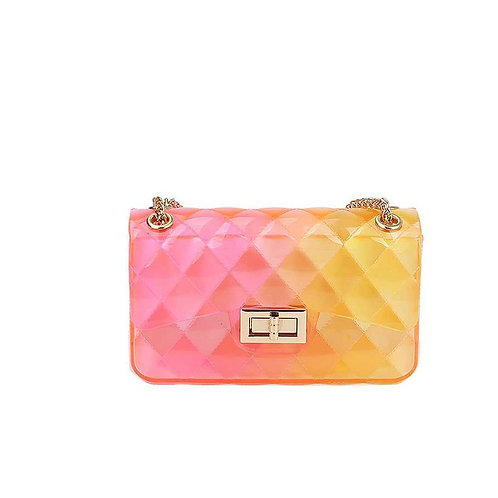 SMALL SIZE CUTE HOT TRENDY CROSSBODY JELLY BAG RD/YL