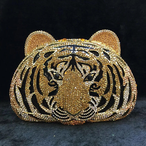 Evening luxury BrIdal Crystal clutch Tiger13