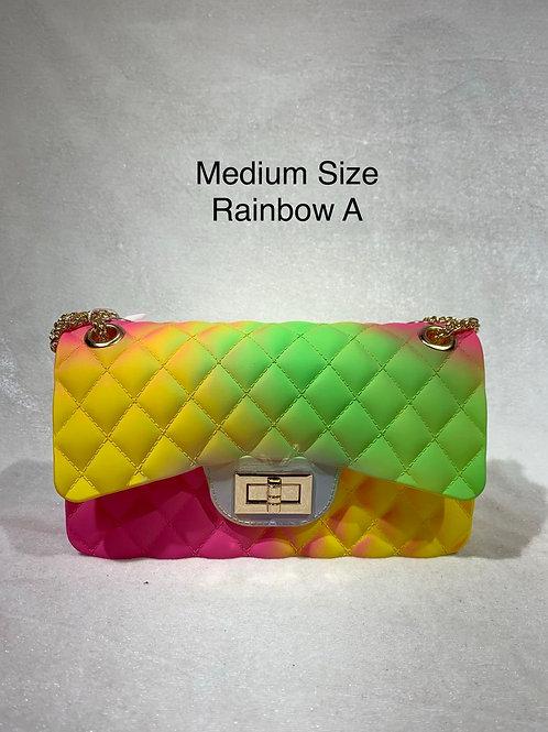 MEDIUM SIZE JELLY BAG RAINBOW-A
