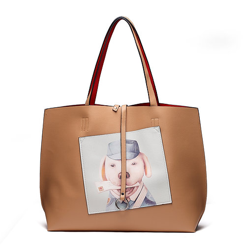 Fashion Trendy Large Tote With Coin Purse