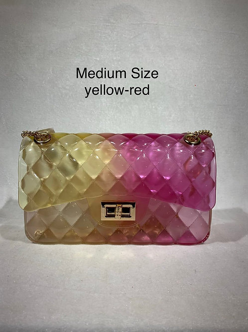 MEDIUM SIZE JELLY BAG YL-RD