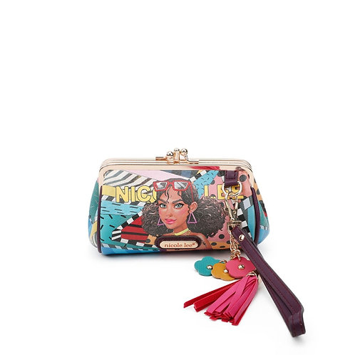 NICOLE LEE CUTE TIARA GOES DANCING KISS LOCK WRISTLET COLLECTION CP6614-CTD