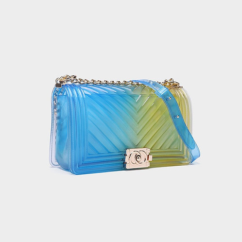 MULTI COLOR JELLY STYLISH CROSSBODY BAG BU-YL