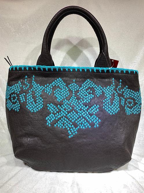 Real Leather handbag RX9105 BK