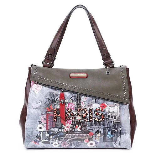 Nicole Lee  PAR15090 PARIS IN FALL SATCHEL BAG