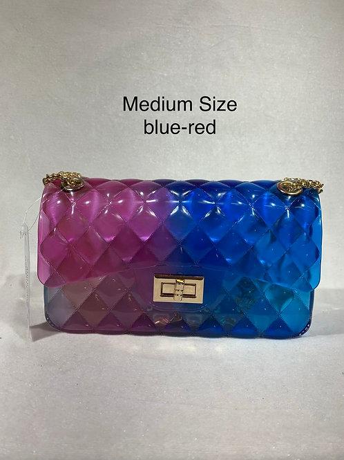 MEDIUM SIZE JELLY BAG BLUE-RED