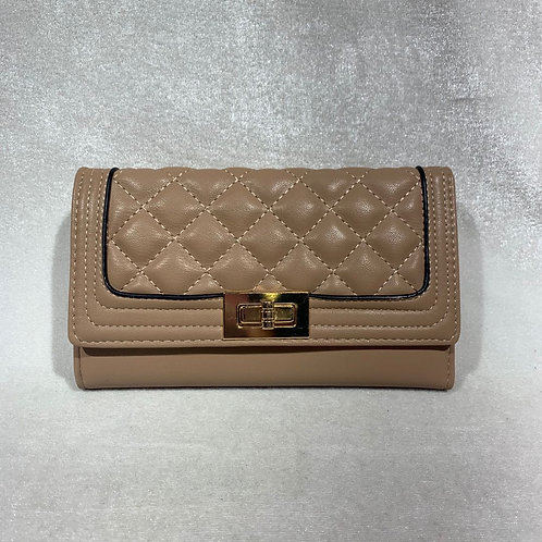 PU LEATHER LONG WALLET YG108 TAUPE