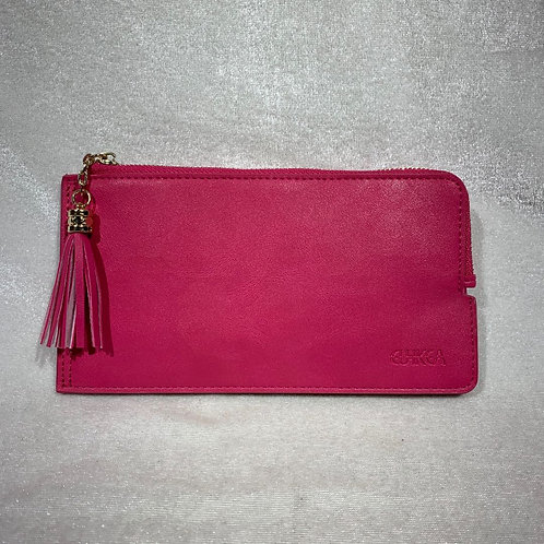 WOMEN PU LEATHER LONG WALLET HF900 PINK