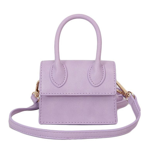 MINI CUTE DESIGN WITH HANDLE CROSSBODY MN8697 PURPLE