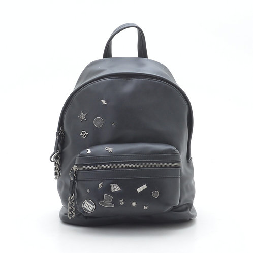 David Jones Faux Leather Backpack Design 5642-3 D.GREY