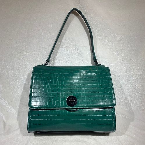 DAVID JONES SATCHEL HANDBAG CM5422 GREEN