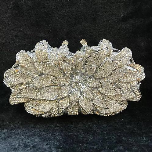 Evening luxury Bridal Crystal clutch flower02