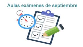 Planificación de aulas exámenes de septiembre