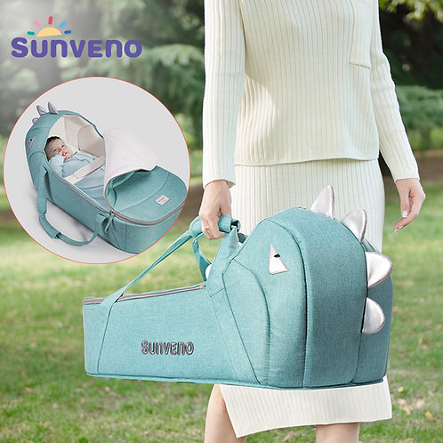 SUNVENO Baby Anywhere Nest Bed, Travel Cot