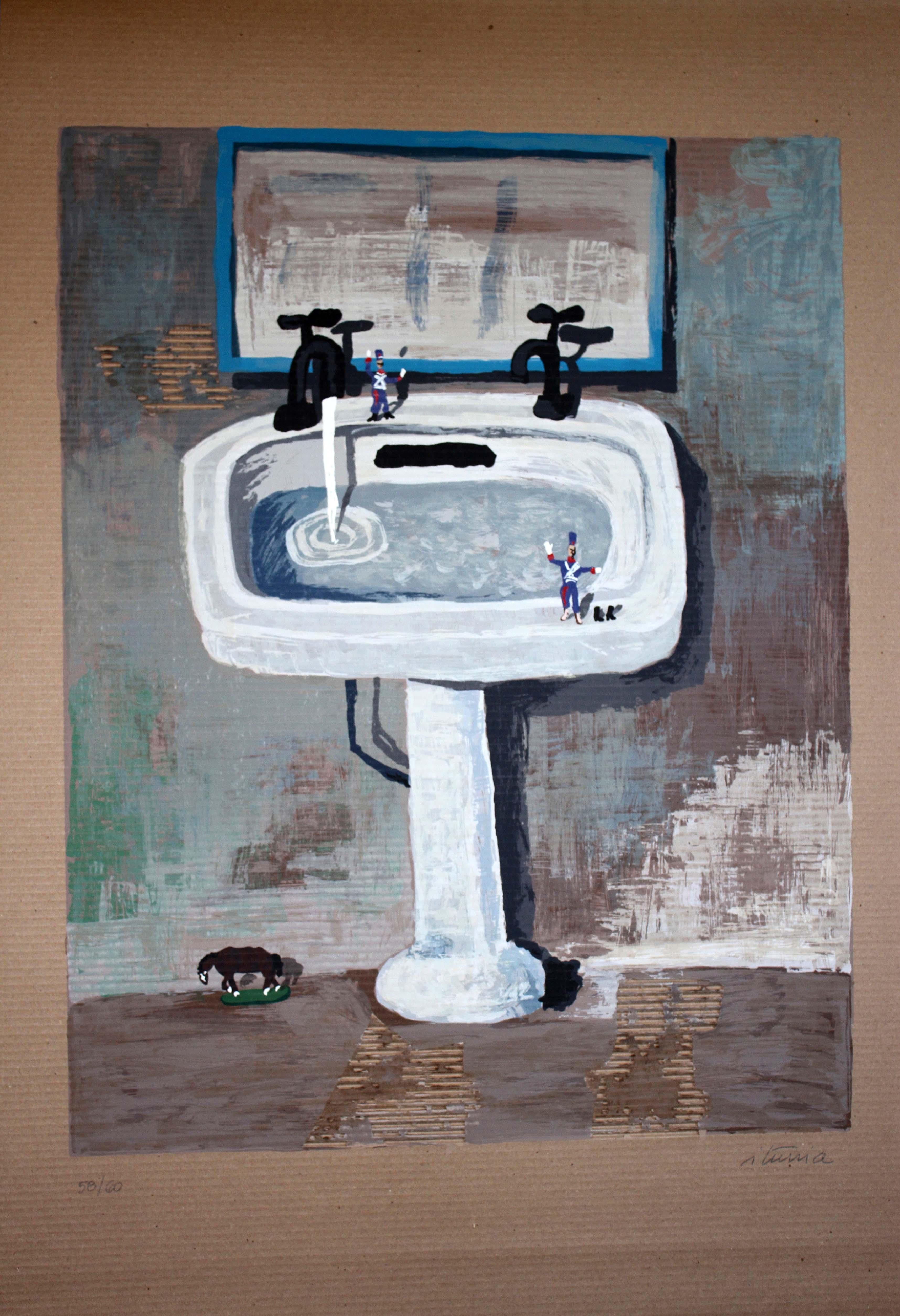 El baño de los blandengues