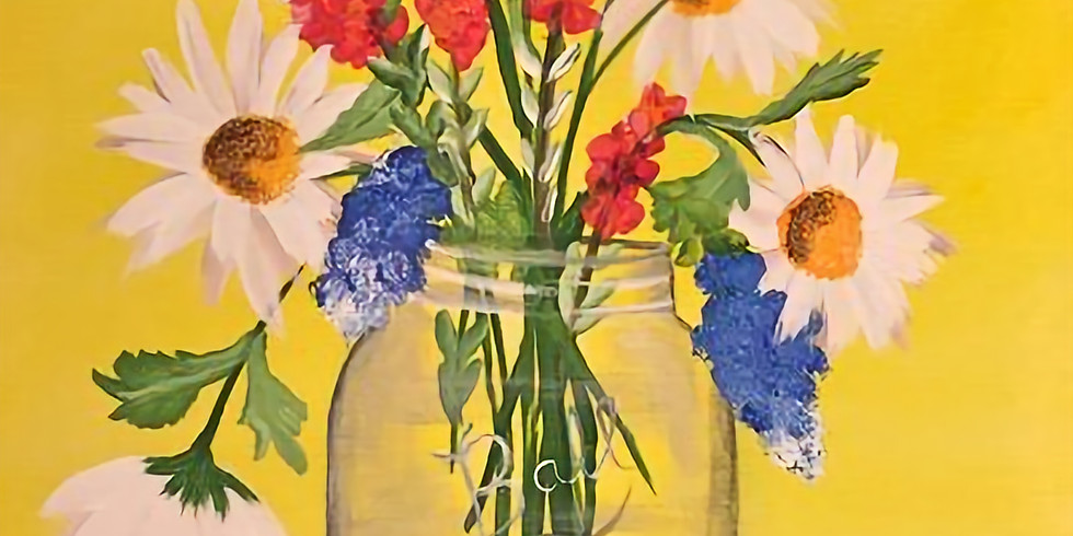 Paint & Sip - Mason Jar Flowers