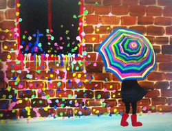 Gum Wall Umbrella