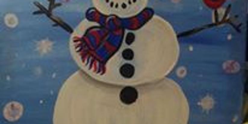 Virtual Family Paint - Happy Snowman