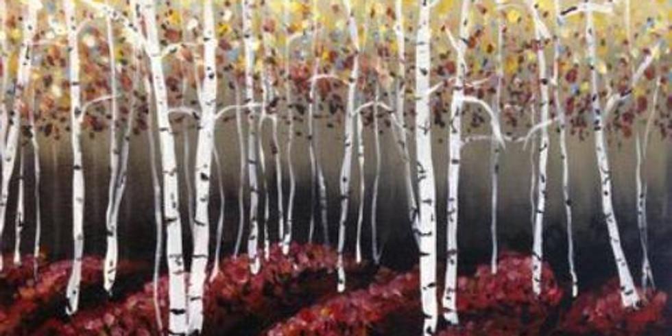Virtual Paint & Sip - Midnight Birch