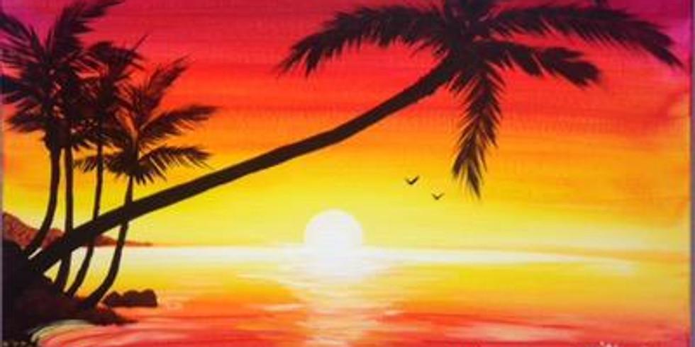 Paint & Sip - Tropical Sunset