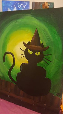 Green Witch Cat