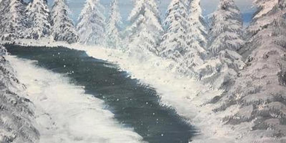 Virtual Paint & Sip - Winter Path